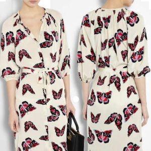 Tucker Gilt Butterfly Wrap Dress